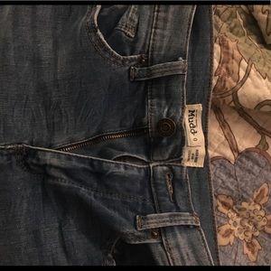 Size 9 Mudd High Rise Distressed Jean Leggings